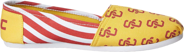 XL USC Trojans NCAA Womens Stripe Canvas Shoes
