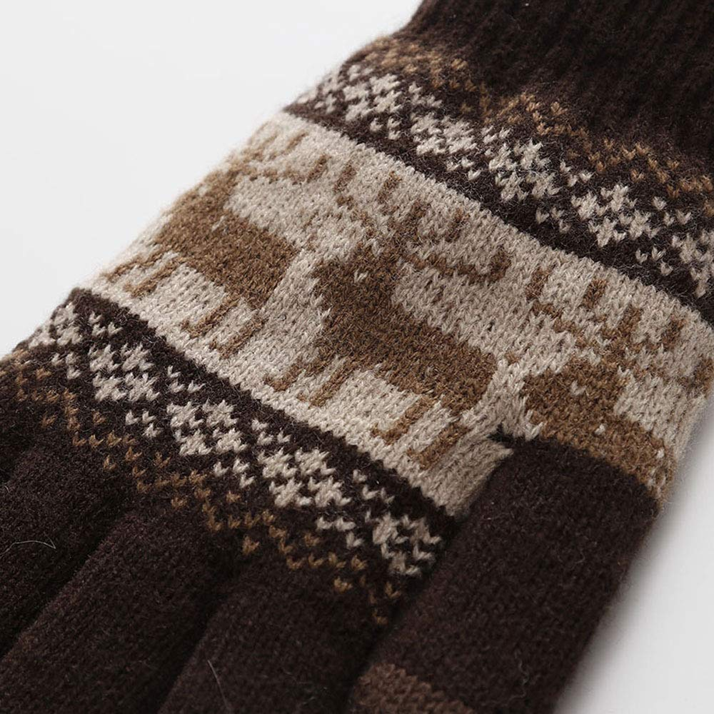 ZOUQILAI Full Finger Mittens Mens Warm Gloves Fashion Outdoor Riding Imitation Cashmere Mittens are Coded Multi-Color Optional