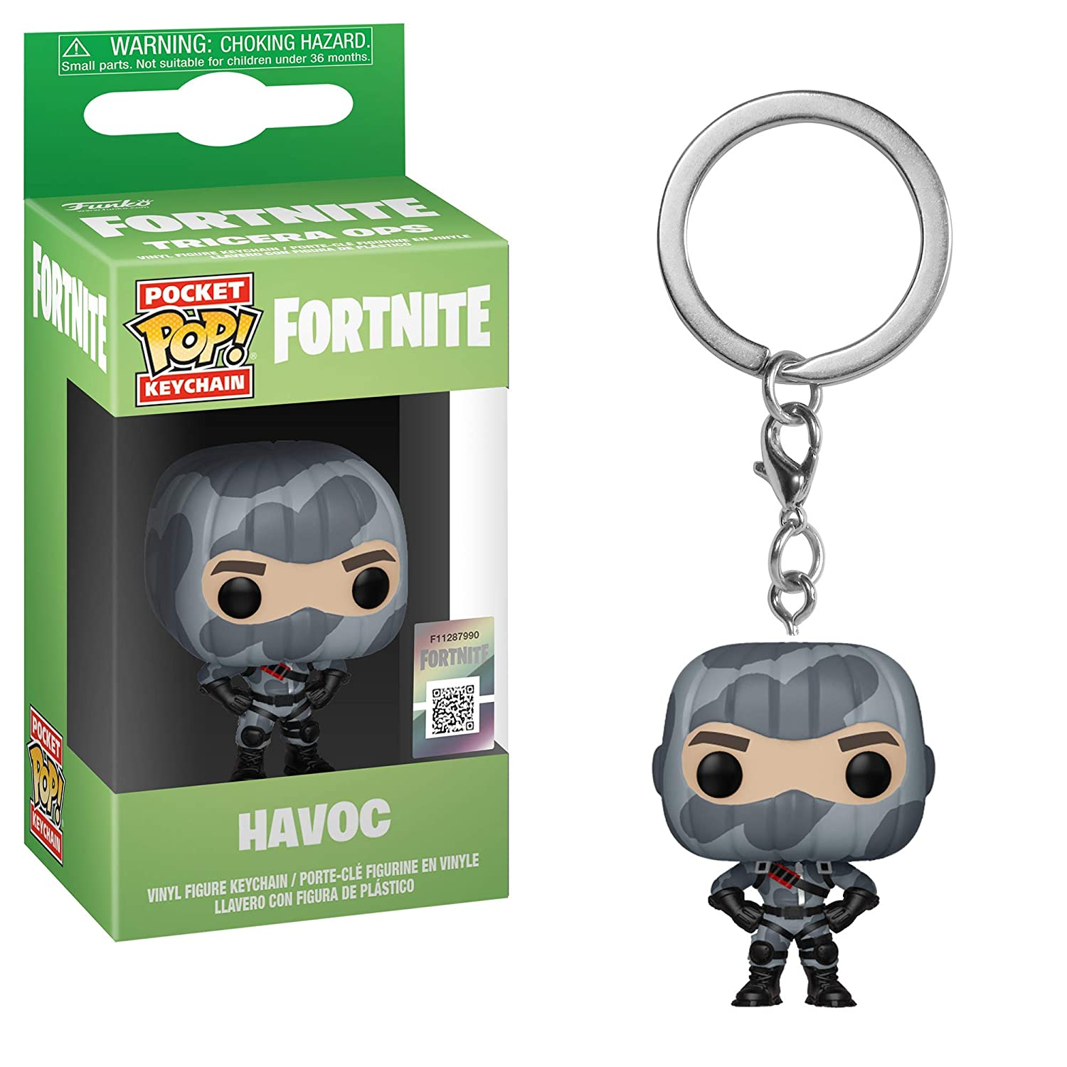 Funko Pop! Keychain: Fortnite - Havoc Toy, Multicolor, One-Size