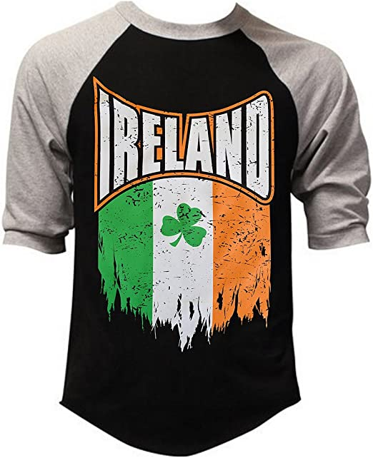 Shredded Grunge Ireland Flag Mens Black Sleeveless T-Shirt Tank Top
