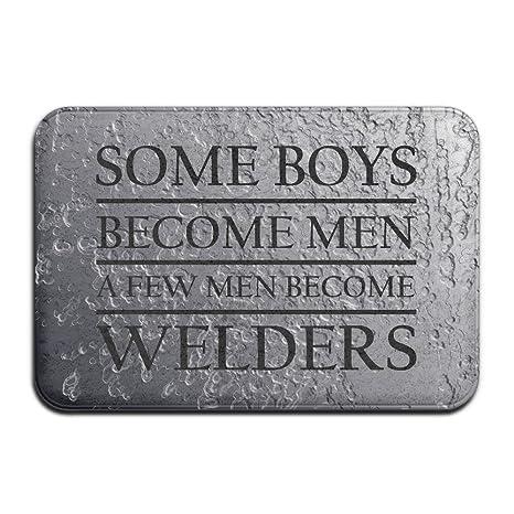 Some Boys convertirse en hombre soldador puerta alfombrillas alfombrillas de al aire libre