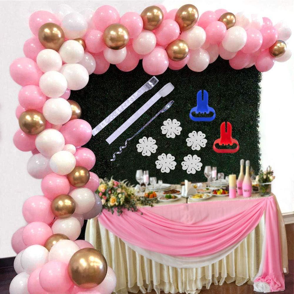 SPECOOL Decoraci/ón de cumplea/ños en Globos de Oro Rosa 115 Piezas Rosa P/álido Roja Blancos de Oro de Globos,Globo de Fiesta Decoraciones para Boda Baby Shower,de Ceremonia Cumplea/ños