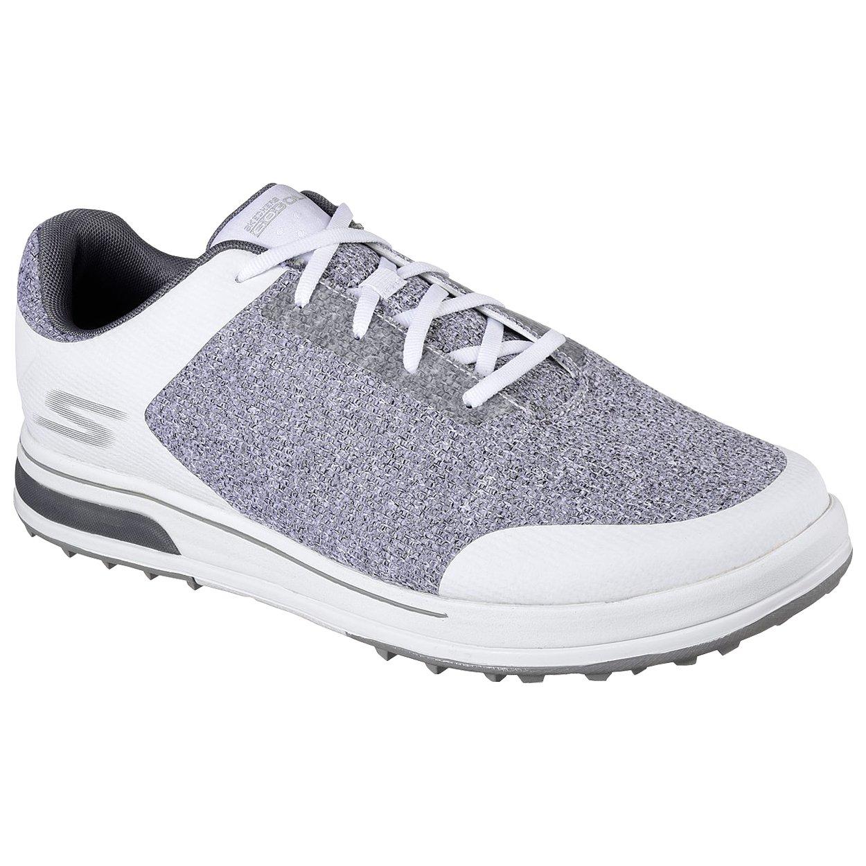 Skechers Men's Go Golf Drive 3 Golf Shoe,White/Gray,9 M US