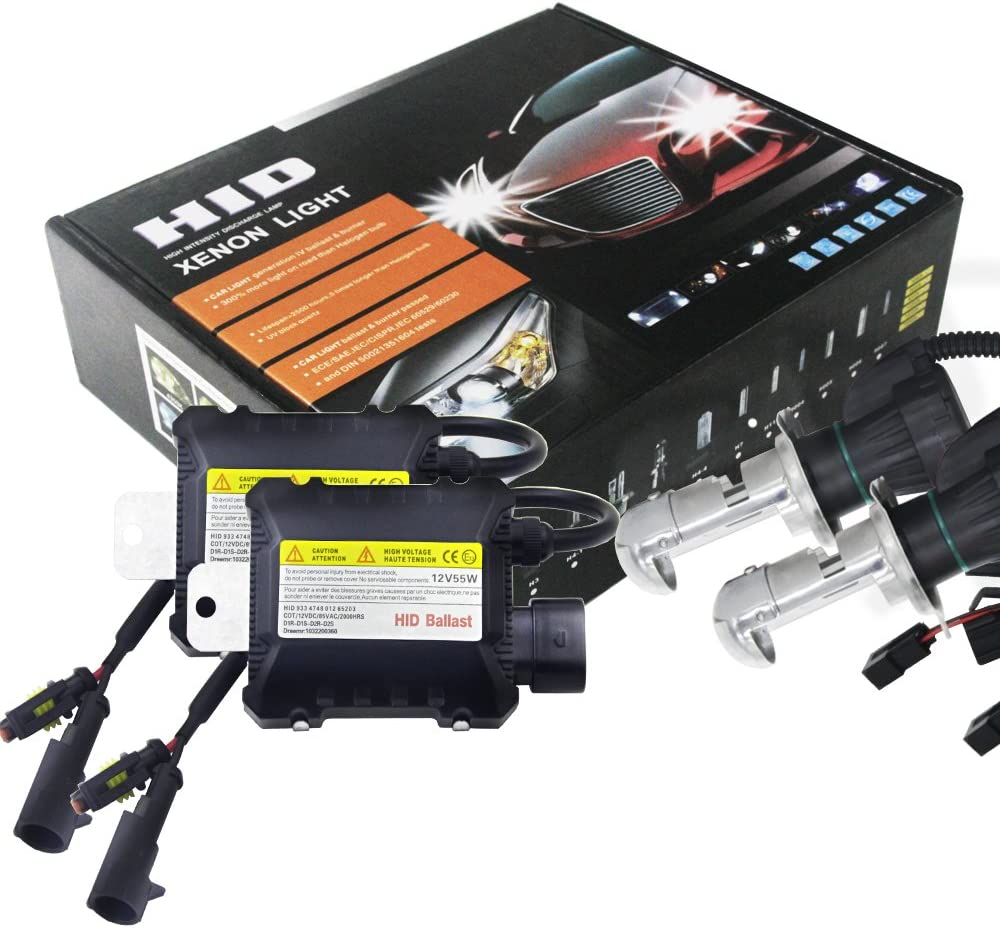 2pcs 55W H4 HID Bi-Xenon HI//LOW Headlight Bulbs Conversion KIT 3000-12000K