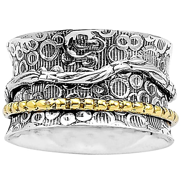 Desiregem Anti Anxiety and Worry Less Spinner Ring Spinning Size DGR1014 7.5