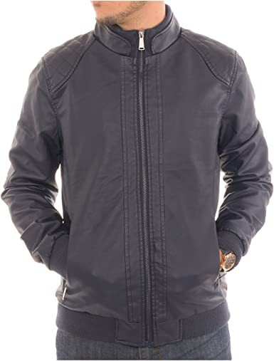 SELX Men Military Steampunk Goth Moto Biker Faux Leather Plus Size Jacket