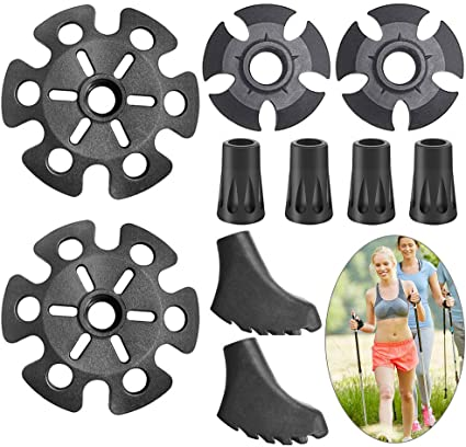 6 Pack 10 Pack Trekking Pole Tip Protectors Nordic Walking Pads Caps Alpenstock