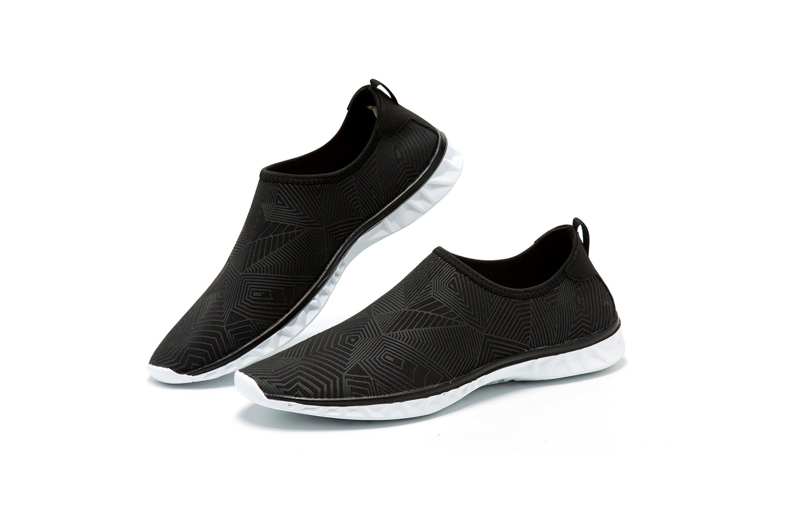AVADAR Water Shoes, Men Women Barefoot Quick Dry Aqua Shoes,Black2,10US Women/8.5US Men-10.5Inch foot