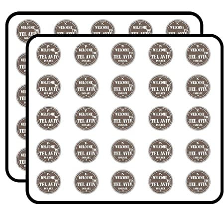 Amazon com: Welcome to Tel Aviv Israel Travel Rubber Stamp Sticker