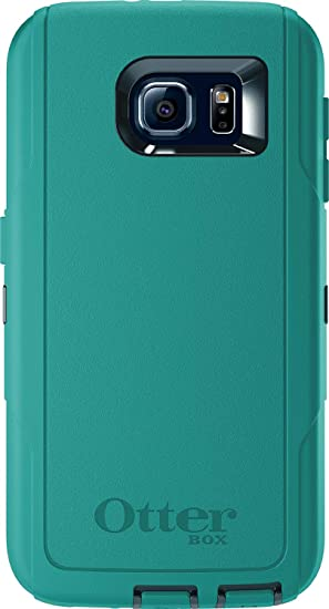 best service d9722 baf98 OtterBox Defender Series Case for Samsung Galaxy S6 - Case Only (No  Holster) Dark Jade/Light Teal Blue