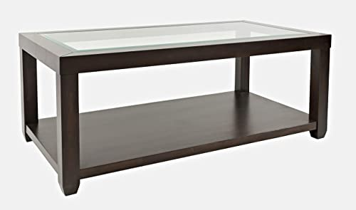 Jofran Urban Icon Rectangular Glass Inlay Coffee Table