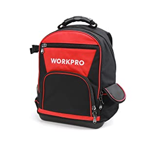 4. WORKPRO 40-pocket Jobsite Tool Backpack Bag