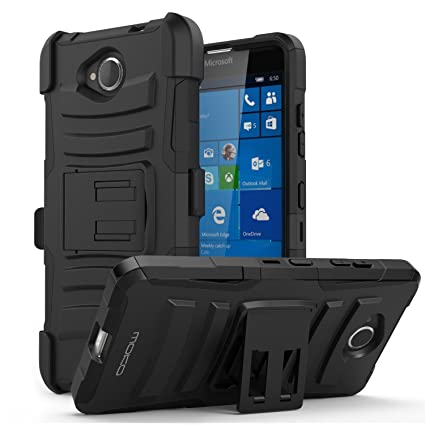 online store 31fb2 6fd6f Lumia 650 Case - MoKo [Heavy Duty] Full Body Rugged Holster Cover with  Swivel Belt Clip - Dual Layer Shock Resistant Microsoft Lumia 650 5.0 Inch  2016 ...