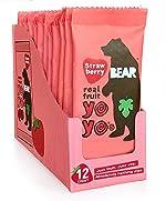 BEAR Real Fruit Snack Rolls - Gluten Free, Vegan, and Non-GMO