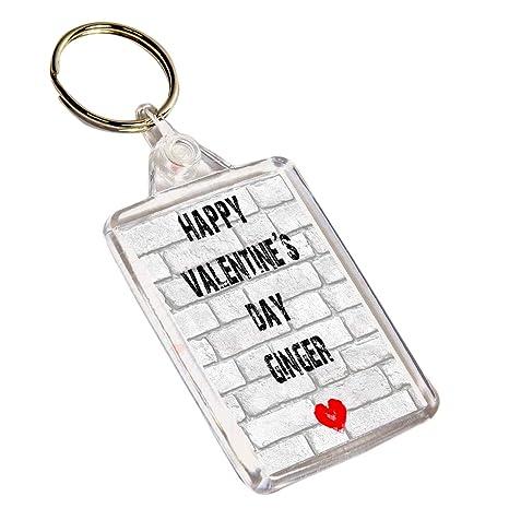 AKGifts Feliz día de San Valentín Ginger Llavero - Divertido ...