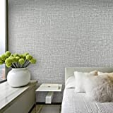 Yancorp Faux Grasscloth Peel Stick Wallpaper Fabric Self-Adhesive Contact Paper Linen Removable Fireaplace Kitchen Backsplash Wall Stickers Door Sticker Counter Top Liners