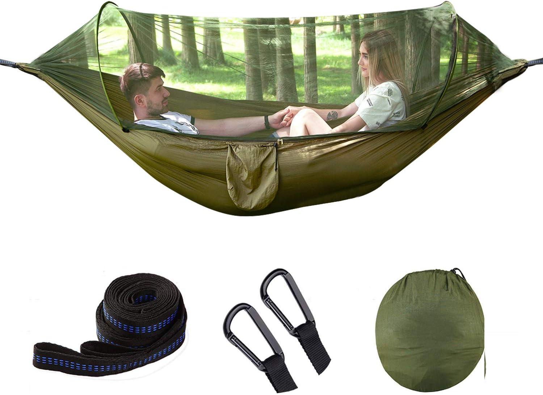 1449963//12043527 de viaje plegable iFCOW Hamaca de camping con mosquitera port/átil hamaca para dos adultos camouflage senderismo al aire libre