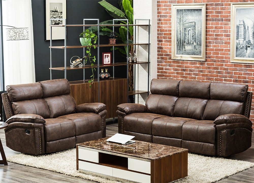 CHEAP FLIEKS Sectional Sofa Reclining Couch Recliner Sofa Chair Leather  Sofa Couches for Living Room Accent Chair Set (Loveseat+3-Seat) - Reviews  ...