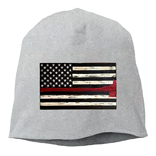 f43e74a9d24e30 Thin Red Line Flag Axe Unisex Toboggan Knit Hat Warm Hat Skull Cap. at  Amazon Men's Clothing store: