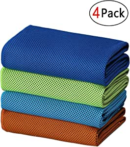 SIMSIMY Cooling Towel, Ice Towel for Neck Instant Cooling, Chilly Towel for Men Women Kids, Super Absorbent Microfiber Towel for Athletes, Workout, Sports, Fitness, Gym, Running, Camping
