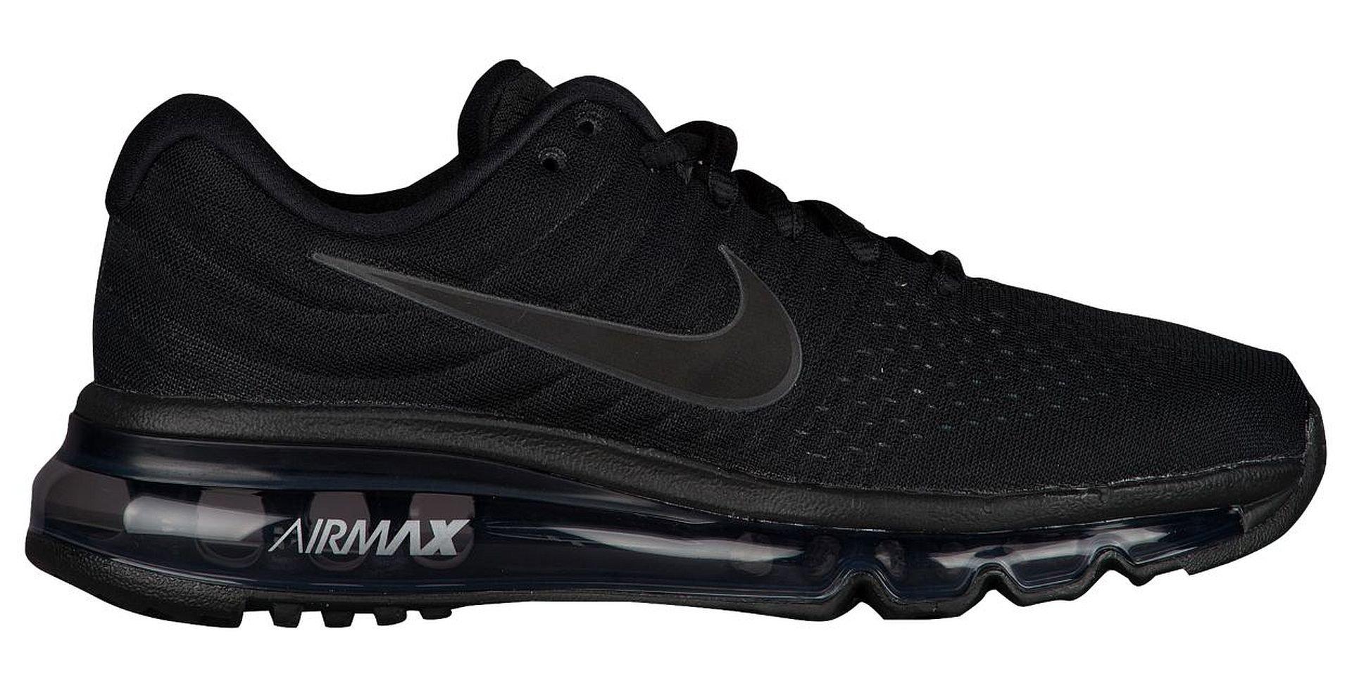 Nike Big Kids Air Max 2017 (GS) Running Shoe Black/Black-Black (4Y) by NIKE