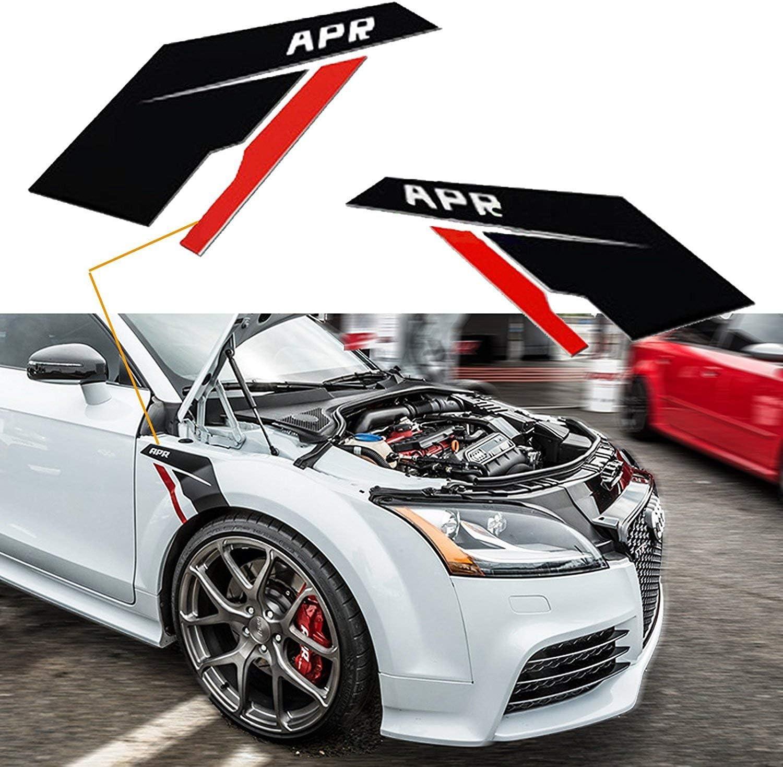 Xotic Tech 2X Black Side Fender Scuttles Sticker Vinyl Decal Stickers for VW Audi Porsche