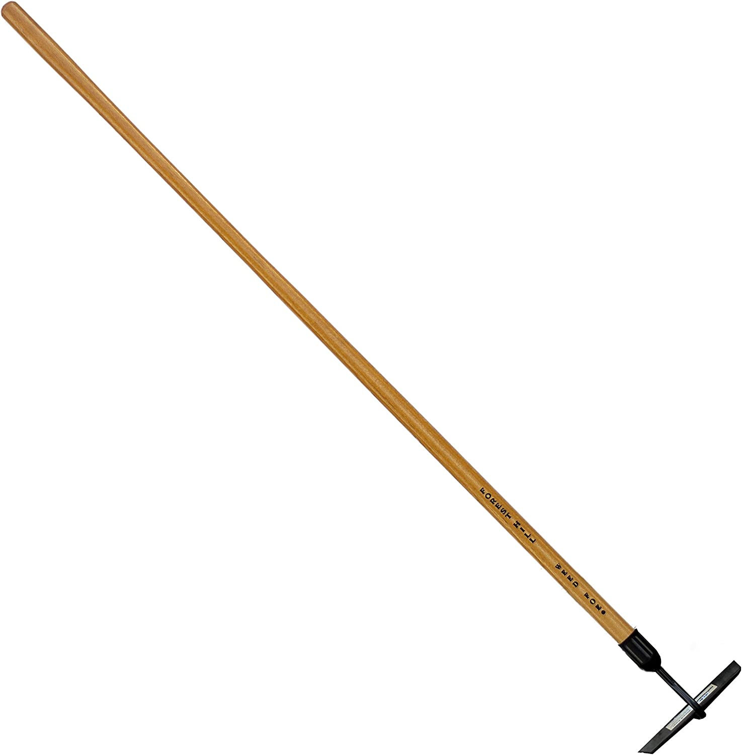 FOREST HILL Weed Foe Hardened and Tempered Spring Steel, Solid Ash Wood Handle Hoe (Crop, 2.75 x 8-inch)
