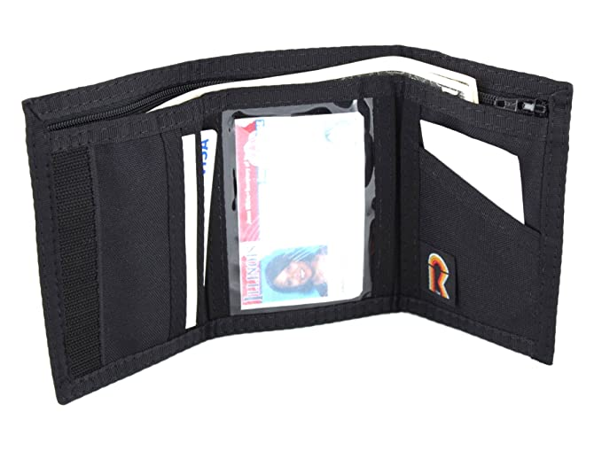 3e6c736dae Men's Trifold Nylon Wallet w/Inside ID. Hook and Loop Closure. Made in USA