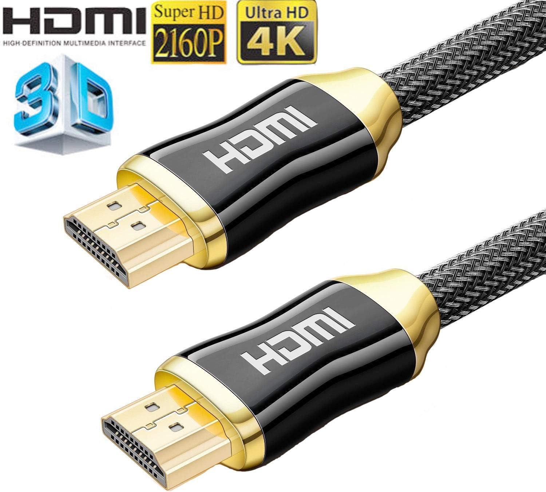 Ezpand - Cable HDMI 1.4 de Alta Velocidad para televisor 3D con Ethernet ARC Gold (4 m) 5 m: Amazon.es: Electrónica