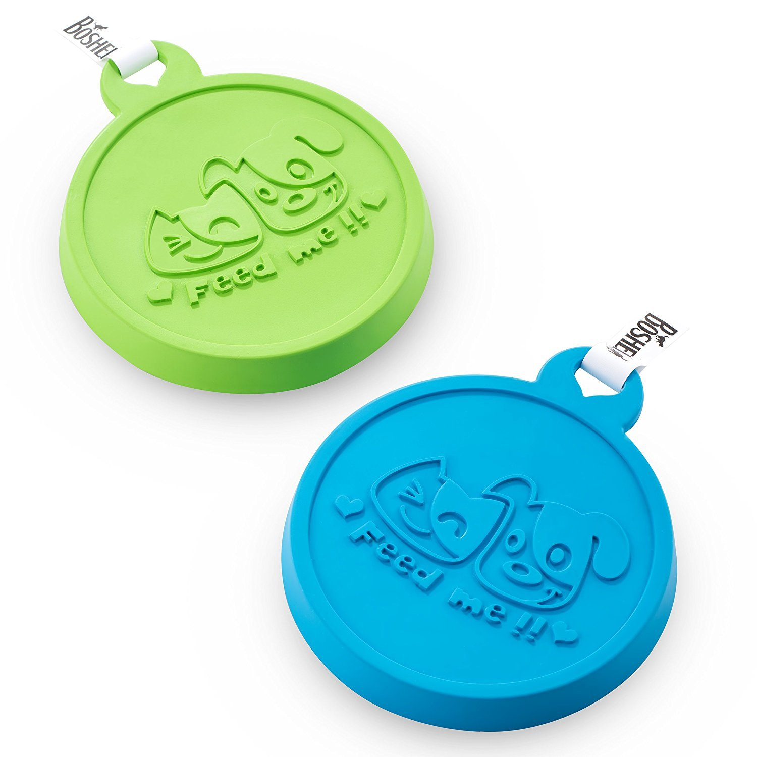 Pet Food Cover by Boshel - Set Of 2 Silicone Dog and Cat Food Lids Maintains Freshness & Locks in Smell - Each Pet Food Can Cover Fits 3 Can Sizes - FDA-Approved - Can Be Used For Both People & Pet Food