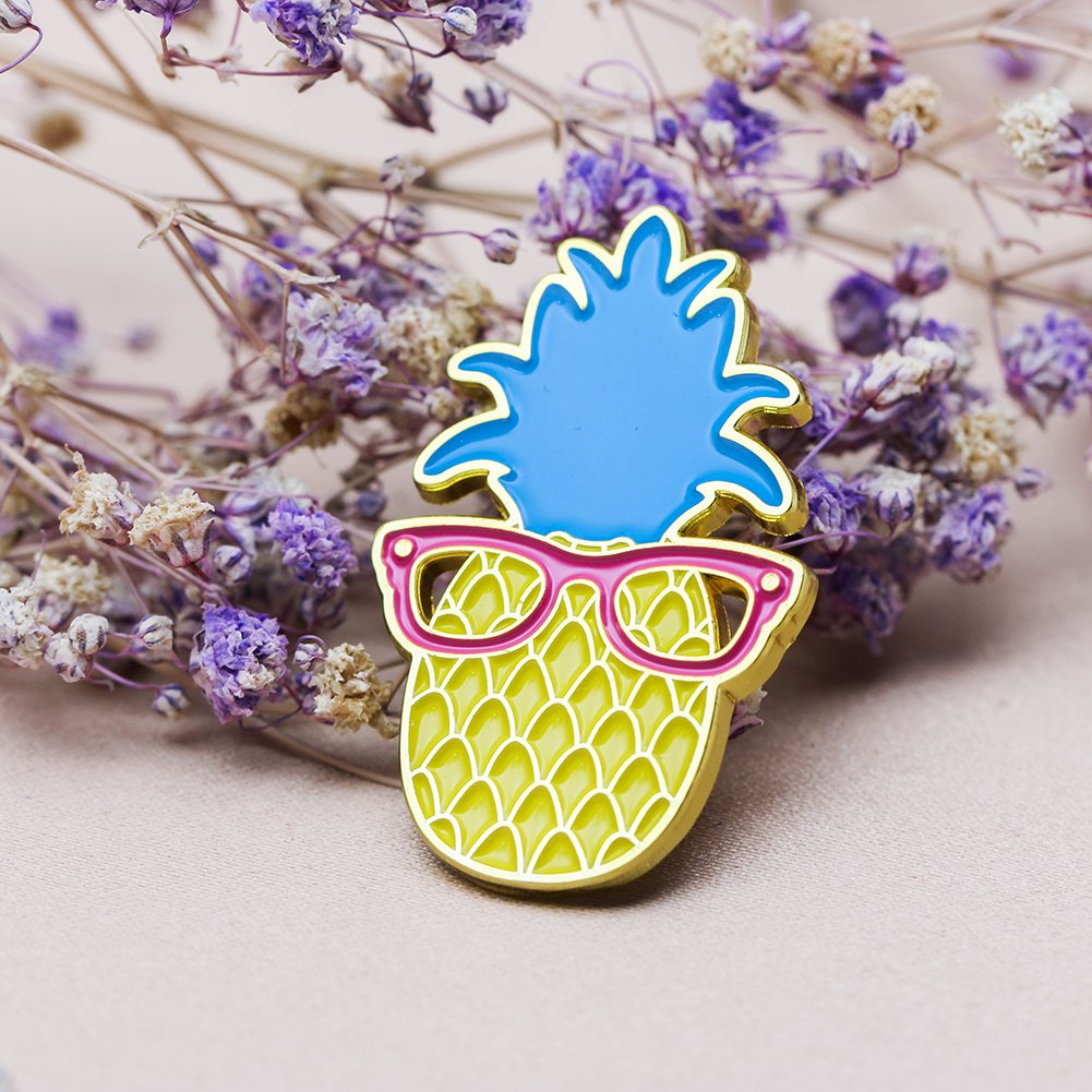 Ms. Clover Pineapple Enamel Pin Cute Fruit Enamel Pins Gifts for Women Cool Lapel Pins for Her. by Ms. Clover (Image #6)