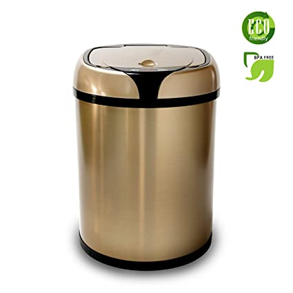 Stainless Steel Automatic Trash Can Touchless Automatic Motion Sensor Trash  Can Kitchen Trash Bin (2.11