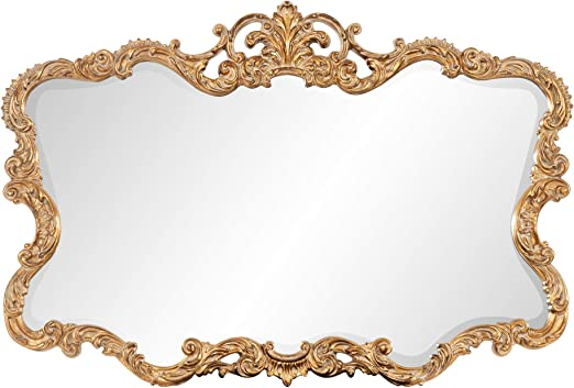 Amazon Com Howard Elliott Talida Mirror Ornate Wall Focal Point Resin Frame Gold 27 Inch X 38 Inch X 1 Inch Home Kitchen