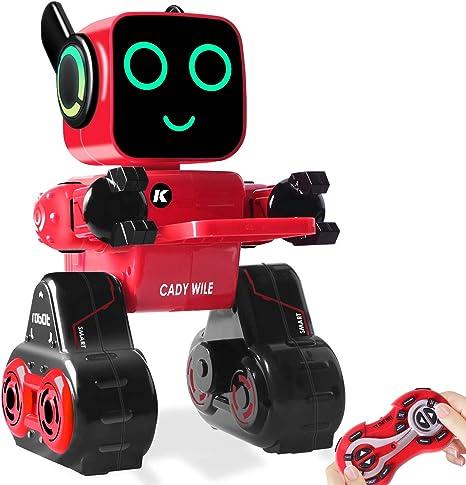 Robot Giocattolo e Regalo per Bambini Telecomando, Touch & Sound Control Robot Interattivo Intelligente con Gettoniera, Gestione del Denaro RC Robot