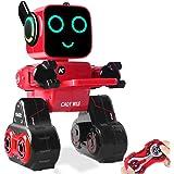 Robot giocattolo bambini, Robot interattivo intelligente con luce a LED, telecomandato, Parla, Salvadanaio per monete, programmabile e ricaricabile Kit RC Robot per ragazzi, ragazze