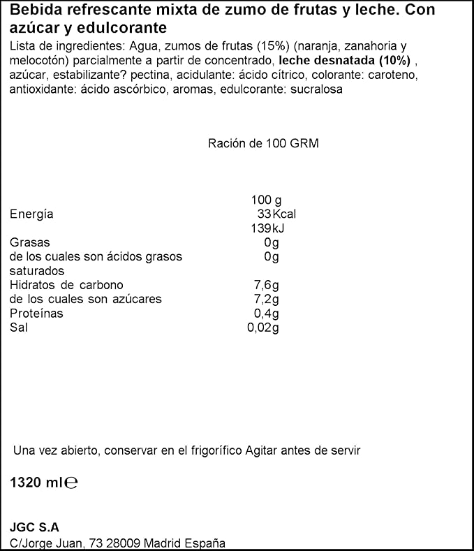 Don Simon Fruta + Leche Mediterraneo Zero materia grasa (Sin ...