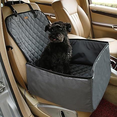 KOBWA Fundas de asiento delantero para mascotas, 2 en 1, plegables, impermeables,