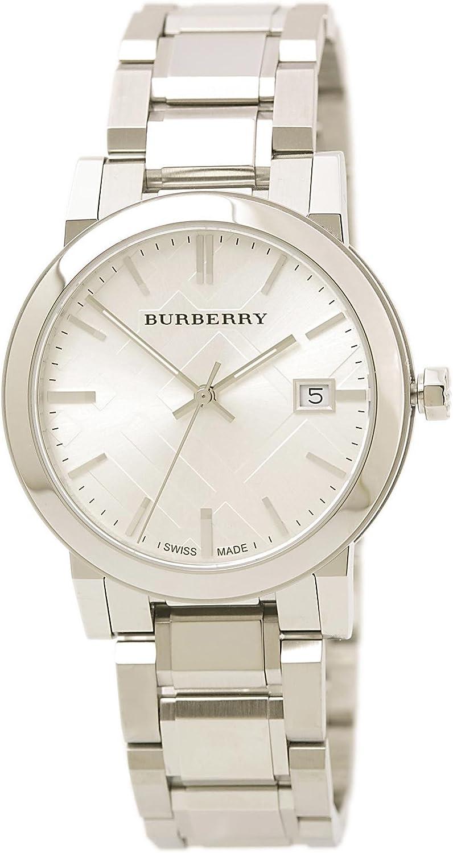 Burberry Men s BU9000 Large Check Stainless Steel Bracelet Watch