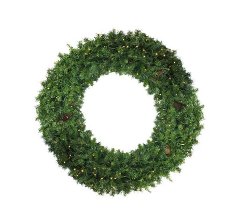 Northlight 48'' Pre-Lit Dakota Red Pine Artificial Christmas Wreath - Clear Lights