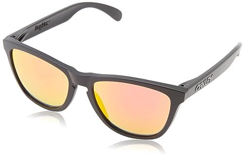Oakley 9013 24-402 Frogskins 24-402 Gafas de sol, Wayfarer, Polarizadas, 55, Matte Black