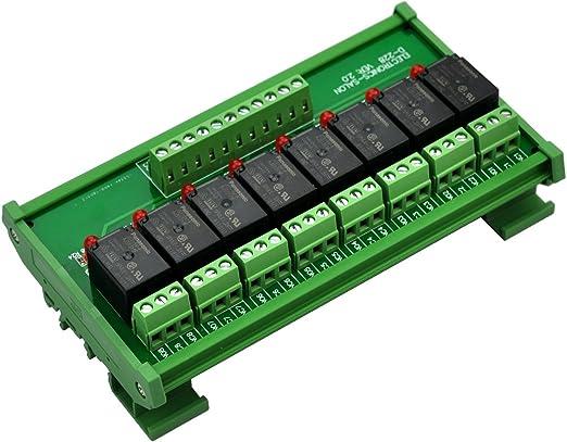 10 A Electronics-Salon supporto DIN 4 SPDT rel/è di potenza interfaccia modulo rel/è 12 V bobina.