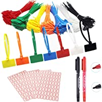175 stuks kabelbinders labels kleurrijke kabelbinders etiketten zelfborgende kabelbinders markers met 256 stuks witte…