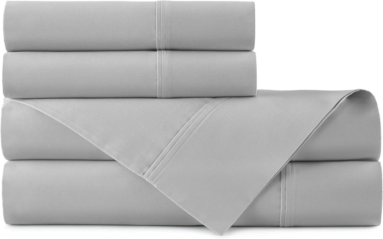 "White Queen Sheet Set Peacock Alley 100/% Cotton Sateen 410TC x-DEEP 21/"""
