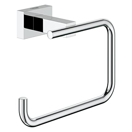 Super GROHE 40507000 Essentials Cube Toilet Paper Holder: Amazon.co.uk RK94