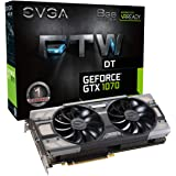 EVGA GeForce GTX 1070 FTW GAMING ACX 3.0, 8GB GDDR5, RGB LED, 10CM FAN, 10 Power Phases, Double BIOS, DX12 OSD Support…