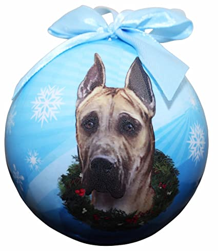 """""""Great Dane, Fawn Christmas Ornament"""" Shatter Proof Ball Easy To  Personalize A - Amazon.com:"""