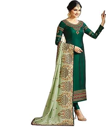 bcfa370c2e Stylish Fashion Prachi Desai teal green embroidered party wear salwar suit  with designer dupatta