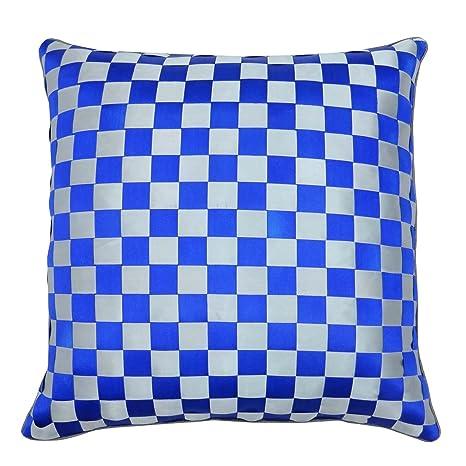 S4Sassy funda de almohada cinta decorativa de color azul ...