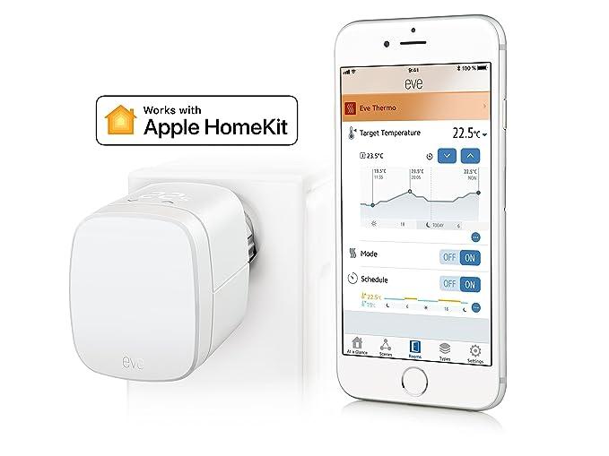 Eve Energy (x2 Set) - Sensor inalámbrico de Electricidad e Interruptor con la Tecnología Apple HomeKit, Bluetooth Low Energy, Color Blanco: Amazon.es: ...