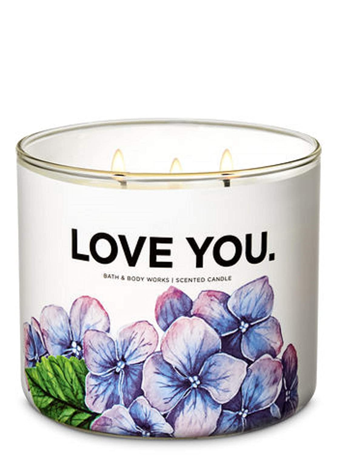 Bath and Body Works I Love You 3 Wick Candle in Fresh Cut Lilacs
